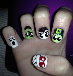 easy diy halloween nail designs
