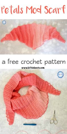 Free modern crochet pattern! The Petals Mod Scarf is a simple, pretty and modern scarf for the cooling autumn temperatures! This one skein project is beginner friendly and can be embellished in any way you choose.