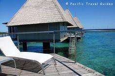 Overwater bungalow's private deck - L'Escapade, New Caledonia via BeautifulPacific.com