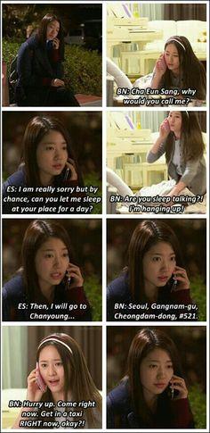 Cha eun sang and lee bo na