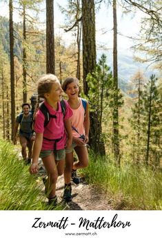 Zermatt – Matterhorn: Where is the most beautiful spot for families in Zermatt – Matterhorn? Hard to say! For little guests it's maybe in the Wolli's adventure park at Sunnegga or in the Glacier Palace. For older guests maybe in the high ropes garden or on the Schweifinen via ferrata. Or perhaps somewhere else. The selection of family exursions is great. #Zermatt #Matterhorn Family Ski Holidays, Zermatt, Tour Operator, Ropes, Family Activities, Palace, Families, Tourism, Adventure