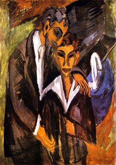 Ernst Ludwig Kirchner, Graef and Friend 1914. on ArtStack #ernst-ludwig-kirchner #art