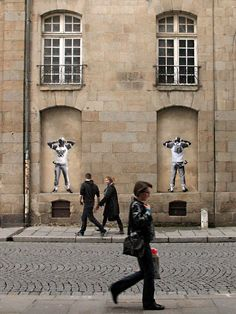 WYZ, Rude Bear & Clowns, Rennes - unurth | street art