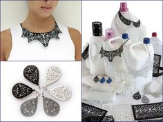 Carmina Campus Spring-Summer collection of accessories made of laser cut plastic reclaimed from detergent bottles.