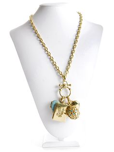 I just Love this Gold Heart Charm Necklace... Could possibly be Initialed.