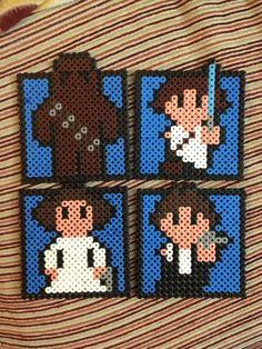 Star Wars  coasters hama beads by Irema Diadema