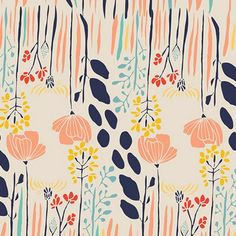 FABRICS - Meadow by Leah Duncan for curtains