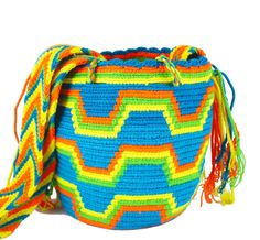 Wayuu Mochila -  Authentic Handmade Wayuu Bag - Paloma - Medium Size - MOBOLSO