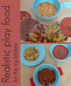 How to make some realistic play food for the toy kitchen