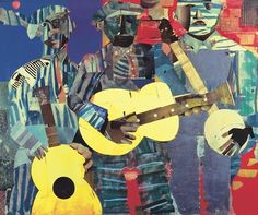 Three Folk Musicians 1967 by Romare Bearden People Music Museum Print Poster (Choose Size) African American Culture, African American Artist, American Artists, African Art, Disney Cd, Romare Bearden, Music Museum, Museum Poster, Art Students League