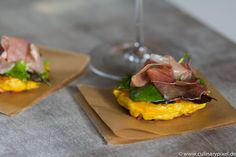 Süßer Bordeaux zu Kürbis-Kartoffel-Puffer mit San Daniele Schinken #bordeauxlicious #Süßwein #Foodpairing