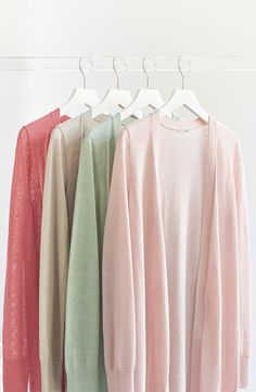 Elegantly long and infinitely versatile, these pastel cardigans come in a variety of colors making it easy to pair with just about anything.