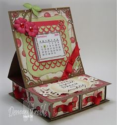 I am in love with this two drawer easel card thing Fancy Fold Cards, Folded Cards, Stampin Up Anleitung, Pop Up Box Cards, Easel Cards, Card Tutorials, Diy Cards, Scrapbook Cards, Card Templates