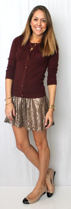 5c31b630 J's Everyday Fashion: Today's Everyday Fashion: The Pleated Skirt Sequin  Skirt Outfit, Skater