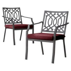 Threshold™ Harper 2-Piece Metal Patio Dining Chair Set