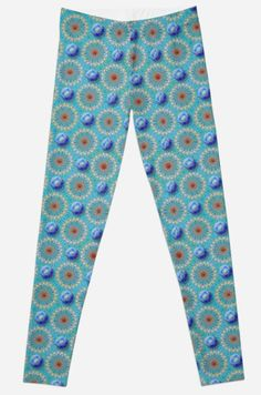 #redbubble #leggings #fashion #style #design #artistic #empyrean #matrix #blue #gold #ruby #cosmic #space #structure #pattern #orbs #gifts