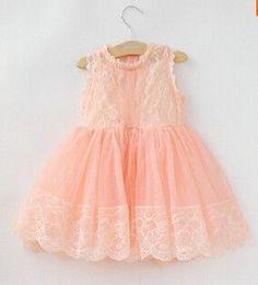 9741c6a7636 Summer Sleeveless Girls Princess Kids Dress Toddler Girl Dresses