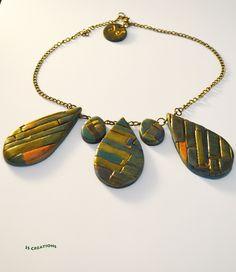 https://flic.kr/p/F9Ko4q | Polymer clay necklace
