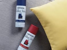 Refresh your outdoor fabric with Rust-Oleum Outdoor Fabric Paint and give your patio cushions, umbrella, and more a new look in minutes without the need to replace what you already have! Patio Chair Cushions, Outdoor Cushions, Patio Chairs, Outdoor Fabric, Porch Decorating, Decorating Tips, Fabric Spray Paint, Lawn Furniture, Outside Patio