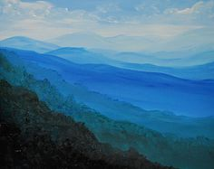 Blue Ridge Mountains original acrylic landscape painting on canvas