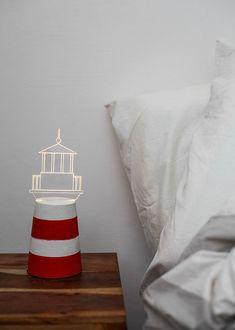 Lighthouse lamp, concrete lamp, nautical home decor,  Nautical lamp - LIMITED EDITION, lighthouse nightlight, lighthouse decor