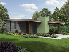 Tiny 2 Bed Modern House Plan - 69629AM   Architectural Designs - House Plans