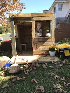 Pallet Cubby House Upcycled childrens playhouse