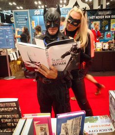 """Holy book, Batman! #NYCC #nycc15 #artofrocksteadysbatman #newyorkcomiccon"""