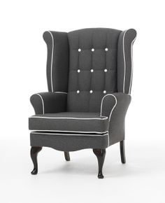 Wow if I wanted to do a ton of work recovering my wing back chair I would do something like this. Stunning.