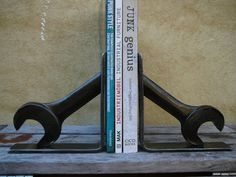 Spanner Industrial Book Ends by Industriana on Etsy