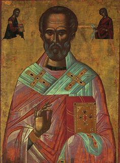 Byzantine Art, Saint Nicholas, Orthodox Icons, Religious Art, Saints, Religion, Painting, Man, Highlights