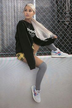 Ariana Grande - Reebok Ariana Grande Style, Outfits, Clothes and Latest Photos. Ariana Grande Fotos, Ariana Grande 2018, Ariana Grande Outfits, Ariana Grande Reebok, Ariana Grande Photoshoot, Ariana Grande Cute, Ariana Grande Pictures, Ariana Grande Hairstyles, Ariana Grande Hair Color