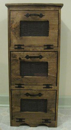 Rustic Vegetable Bin Storage Cupboard by dlightfuldesigns on Etsy
