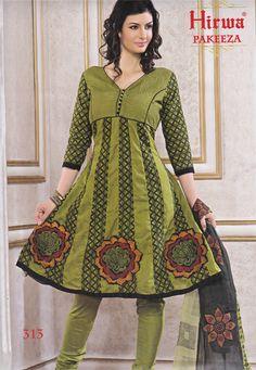 Anarkali Dress Material - Lace Work Ishita Fashions - Top Semi Stiched
