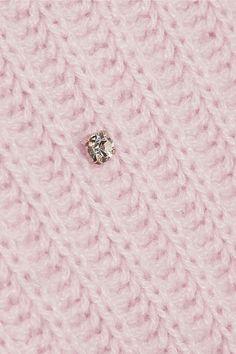 Pastel-pink cashmere Button-fastening keyhole at back cashmere; Cashmere Cardigan, Cashmere Sweaters, Alexander Mcqueen Bracelet, Pastel Pink, Miu Miu, Belly Button Rings, Knitwear, Pink Ladies, Feminine