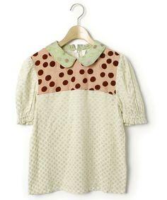 AHCAHCUM.muchacha(アチャチュムムチャチャ)「半袖シャツ(シャツ/ブラウス)」|ベージュ