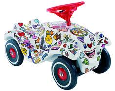 weisser Bobby Car mit tollen Bildern