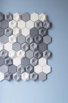 Szare i białe heksagony