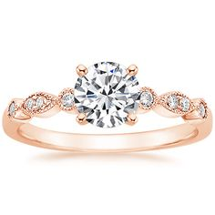 "14K Rose Gold Tiara Diamond Ring from Brilliant Earth It just screams ""MEGAN, WEAR ME!"""