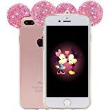 Amazon.com: iPhone 7 Case, MC Fashion Flexible Cute 3D Bling Bling Crystal Rhinestone Mickey Mouse Ears Soft Clear Transparent TPU Shell Case Skin for Apple iPhone 7 (2016) (Clear Ears): Cell Phones & Accessories