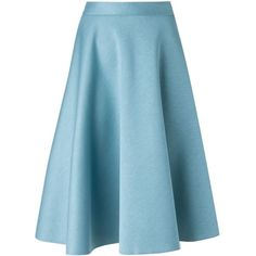 P.A.R.O.S.H. Emilx Skirt ($193) ❤ liked on Polyvore featuring skirts, blue, blue skirt and p.a.r.o.s.h.