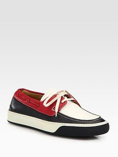Bally - Leather Boat Shoes - Saks.com