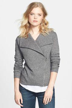 Halogen Wool & Cashmere Moto Jacket