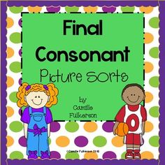 This set of Final Consonant Picture Sorts can be used in Guided Reading groups to build phonemic awareness and phonics skills!
