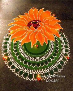 Free Hand Rangoli Design Ideas For Diwali image 26 Flower Rangoli Images, Simple Flower Rangoli, Rangoli Designs Flower, Rangoli Border Designs, Rangoli Patterns, Rangoli Ideas, Easy Rangoli Designs Videos, Indian Rangoli Designs, Rangoli Designs Latest