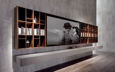 33 moderne TV-Wandpaneel-Designs und Modelle 33 Modern TV Wall Panel Designs and Models – FresHouse Tv Wall Panel, Wall Panel Design, Tv Wall Design, Long Walls, Grey Walls, Home Theather, Wall Unit Designs, Modern Tv Wall, Tv Furniture