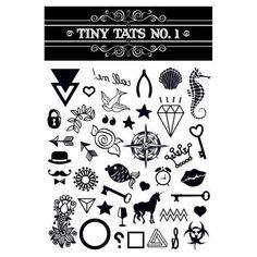 Tiny Tats All Black Temporary Tattoo Collection