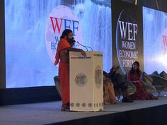 At women economic forum In New Delhi, India. #WEF