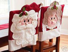 Capa Cadeira Natal em feltro by KAREN STRICKER, via Flickr