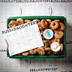 Our friends at @russanddaughter let us use their beautiful doughy creations to learn once and for all how many bagels fit in a MakeSpace bin. Unfortunately, things didn't go as planned ;)